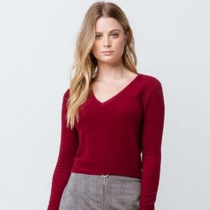 TILLY'S SKY AND SPARROW V-Neck Crop Sweater